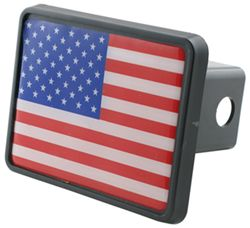 "American Flag 2"" Trailer Hitch Receiver Cover"