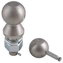 "Convert-A-Ball Interchangeable Ball Set - 1-7/8"" and 2"" Balls - 1"" Shank - Nickel"
