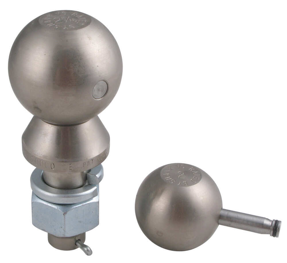 Chrome Convert-A-Ball Interchangeable Ball Set with 2 Inch and 2 -5/16 Inch Hitch Balls