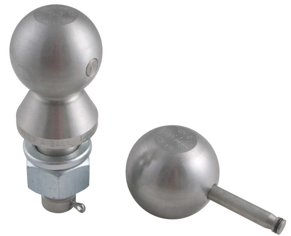 Stainless Steel Convert-A-Ball Interchangeable Ball Set with 2 Inch and 2 -5/16 Inch Hitch Balls