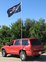 Sports Fan Telescoping Fiberglass Flag Pole with Drive-Up Base