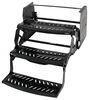 "Hickory Springs Manual Pull-Out Steps - Triple - 9"" Drop/Rise - 24"" Wide - Slotted Steel"