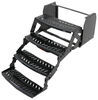 "Hickory Springs Manual Pull-Out Steps - Quad - 7"" Drop/Rise - 24"" Wide - Slotted Steel"
