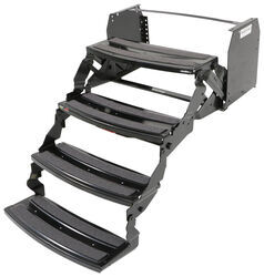 "Hickory Springs Manual Pull-Out Steps for RV - Quad - 7"" Drop/Rise - 24"" Wide - Steel"