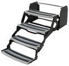 "Hickory Springs Manual Pull-Out Steps for RV - Quad - 7"" Drop/Rise - 24"" Wide - Aluminum"
