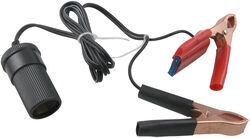 Battery Adapter - 12-Volt DC Cord to Battery Clips - 3' Cord