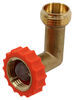 Valterra 90-Degree Hose Saver - Brass