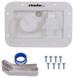 Valterra City Water Inlet for RVs - White - Gravity Fill