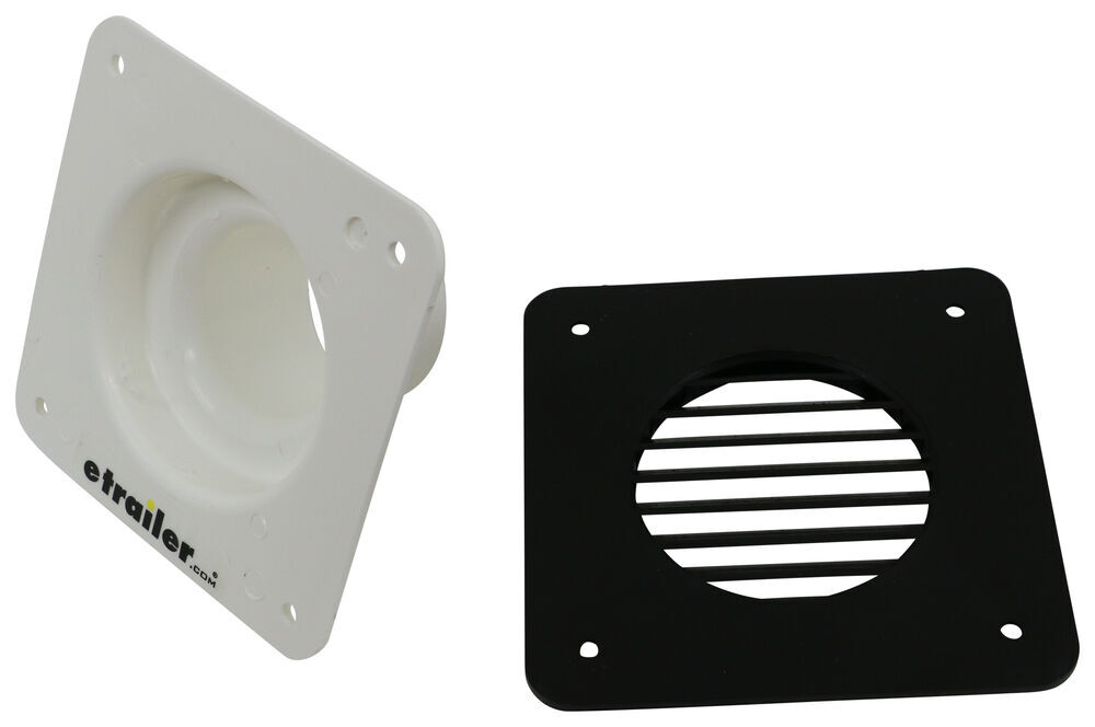 Valterra Battery Box Cone Vent And Louvered Cover White