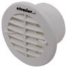 Valterra Heating and A/C Vent Register - Round - White