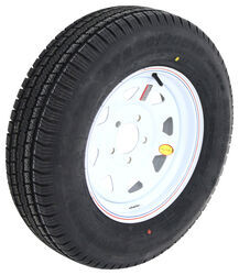 "Provider ST205/75R15 Radial Trailer Tire with 15"" White Spoke Wheel - 5 on 4-3/4 - Load Range C"