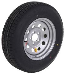 "Provider ST205/75R15 Radial Trailer Tire with 15"" Silver Mod Wheel - 5 on 4-1/2 - Load Range D"