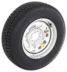 "Provider ST205/75R15 Radial Tire w/ 15"" Steel Mod Wheel - 5 on 4-1/2 - LR C - Silver PVD Finish"