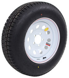 "Provider ST205/75R15 Radial Trailer Tire w/ 15"" White Mod Wheel - 5 on 4-1/2 - Load Range D"