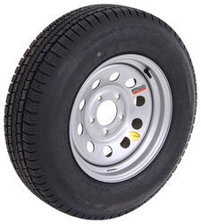 "Provider ST205/75R15 Radial Trailer Tire with 15"" Silver Mod Wheel - 5 on 5 - Load Range D"