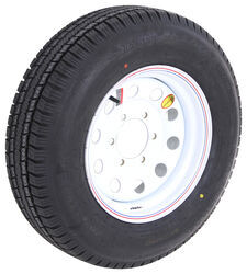 "Provider ST205/75R15 Radial Trailer Tire with 15"" White Mod Wheel - 6 on 5-1/2 - Load Range D"