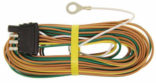 20 ft wishbone 4 way trailer wiring harness with 30 ground wire rh etrailer com Standalone Lt1 Wiring Harness 4 Plug Wiring Harness Diagram