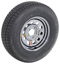 "Provider ST225/75R15 Radial Tire w/ 15"" Steel Mod Wheel - 5 on 4-1/2 - LR D - Black PVD Finish"