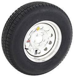 "Provider ST225/75R15 Radial Tire w/ 15"" Steel Mod Wheel - 5 on 4-1/2 - LR D - Silver PVD Finish"