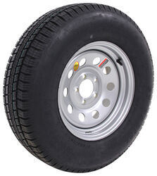 "Provider ST225/75R15 Radial Trailer Tire w/ 15"" Silver Mod Wheel - 5 on 4-1/2 - Load Range D"