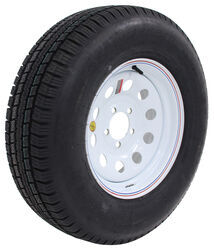 "Provider ST225/75R15 Radial Trailer Tire w/ 15"" White Mod Wheel - 5 on 4-1/2 - Load Range D"
