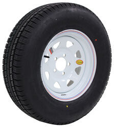 "Provider ST225/75R15 Radial Trailer Tire w/ 15"" White Spoke Wheel - 5 on 4-1/2 - Load Range D"