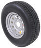 "Provider ST225/75R15 Radial Trailer Tire w/ 15"" Silver Mod Wheel - 5 on 5 - Load Range D"