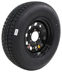 "Provider ST225/75R15 Radial Trailer Tire w/ 15"" Black Mod Wheel - 6 on 5-1/2 - Load Range D"
