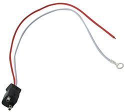 "2-Wire Pigtail for Optronics Trailer Lights - 2-Prong PL-10 Plug - 10"" Lead"