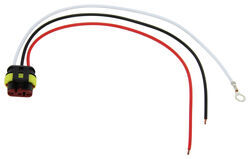 "3-Wire Pigtail for Optronics Trailer Lights - Weathertight Plug - 10"" Lead"