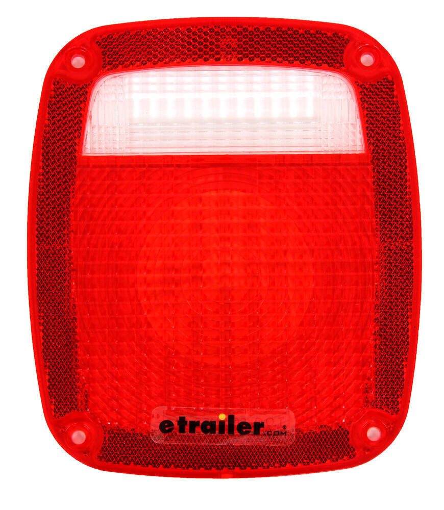 Jeep Tail Light Lenses : Replacement tail light lens for universal jeep style stop