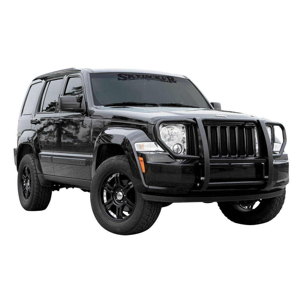 2012 Jeep Liberty Aries Grille Guard 1 Piece Black