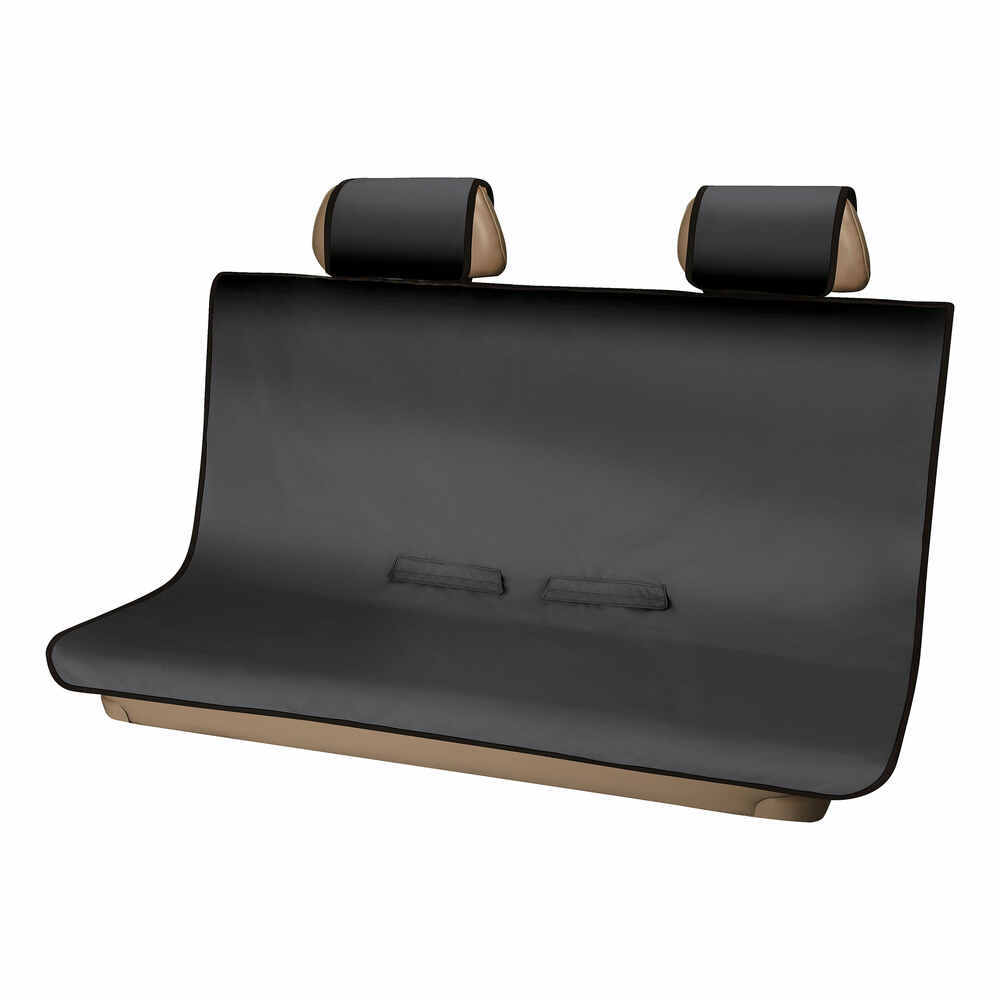 Aries Automotive Seat Defender Bench Seat Protector With Headrest Covers Universal Fit Black