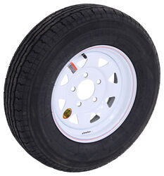 "Contender ST175/80R13 Radial Trailer Tire w/ 13"" White Spoke Wheel - 5 on 4-1/2 - Load Range C"