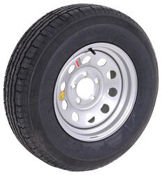 "Contender ST205/75R14 Radial Trailer Tire w/ 14"" Silver Mod Wheel - 5 on 4-1/2 - Load Range C"