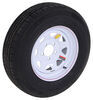 "Contender ST205/75R14 Radial Trailer Tire w/ 14"" White Spoke Wheel - 5 on 4-1/2 - Load Range C"
