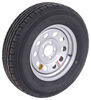 "Contender ST205/75R15 Radial Trailer Tire w/ 15"" Silver Mod Wheel - 5 on 4-1/2 - Load Range C"