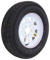 "Contender ST205/75R15 Radial Trailer Tire w/ 15"" White Spoke Wheel - 5 on 4-1/2 - Load Range C"