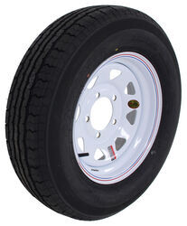 "Contender ST205/75R15 Radial Trailer Tire w/ 15"" White Spoke Wheel - Offset - 5 on 5-1/2 - LR C"