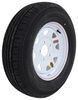 "Contender ST205/75R15 Radial Trailer Tire w/ 15"" White Spoke Wheel - 5 on 5 - Load Range C"