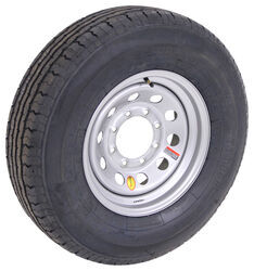 "Contender ST235/80R16 Radial Trailer Tire w/ 16"" Silver Mod Wheel - 8 on 6-1/2 - Load Range E"
