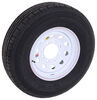 "Contender ST235/80R16 Radial Trailer Tire w/ 16"" White Mod Wheel - 8 on 6-1/2 - Load Range E"