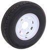 "Contender ST235/80R16 Radial Trailer Tire w/ 16"" White Spoke Wheel - 8 on 6-1/2 - Load Range E"