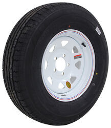 "Contender ST225/75R15 Radial Trailer Tire w/ 15"" White Spoke Wheel - 5 on 4-1/2 - Load Range D"