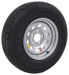 "Contender ST225/75R15 Radial Trailer Tire w/ 15"" Silver Mod Wheel - 5 on 5 - Load Range D"