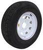 "Contender ST225/75R15 Radial Trailer Tire w/ 15"" White Spoke Wheel - 5 on 5 - Load Range D"