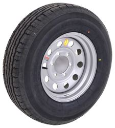 "Contender ST225/75R15 Radial Trailer Tire w/ 15"" Silver Mod Wheel - 6 on 5-1/2 - Load Range D"