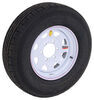 "Contender ST225/75R15 Radial Trailer Tire w/ 15"" White Spoke Wheel - 6 on 5-1/2 - Load Range D"