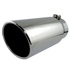 "aFe Exhaust Tip for 4"" Tailpipe - Stainless Steel - Bolt On -  4"" Inlet, 5"" Outlet"