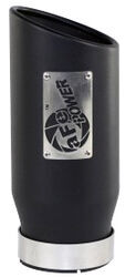 "aFe Exhaust Tip for 4"" Tailpipe - Stainless Steel - Bolt On - 5"" Outlet - Black"